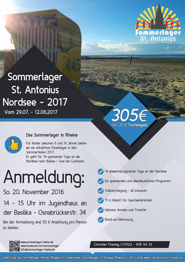Sommerlager Rheine Nordsee 2017
